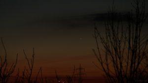 Merkur am 19. Februar 2019 um 18:44 Uhr am Westhimmel