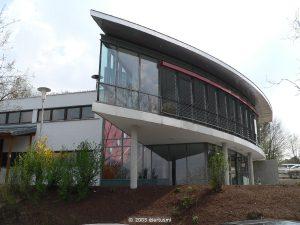 Die Erbach-Halle am Tag der Einweihung am 16. April 2005