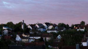 Eisingen am 26. April 2019 um 06:11 Uhr bei Sonnenaufgang