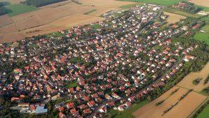Luftbild von Eisingen am 26. August 2007