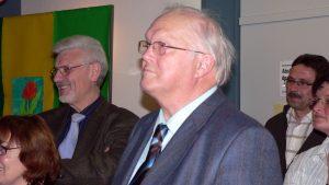Erich Günder nach der Bürgermeisterwahl am 16. März 2008