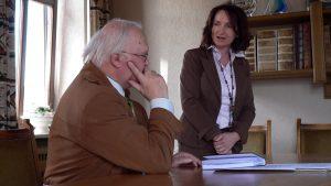 Chefwechsel im Eisinger Rathaus - Erich Günder und Ursula Engert am 30. April 2008