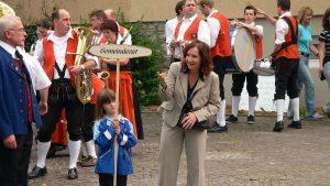 1. Bürgermeisterin Ursula Engert bei 25 Jahre Blaskapelle Eisingen am 7. Juni 2008