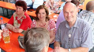 1. Bürgermeisterin Ursula Engert und Landrat Eberhard Nuß beim Backhäuslesfest am 29. Juni 2012