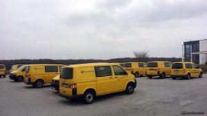 In Eisingen geht die Post ab - Postfahrzeuge in der Landwehrstraße
