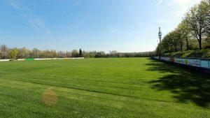 Fußballplatz des TSV Eisingen am 18. April 2018