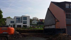 Das Anwesen Hauptstraße 50 am 24. April 2018 nach dem Gebäudeabriss