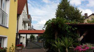 Biergarten im Gasthof Zur Linde am 17. Juni 2018