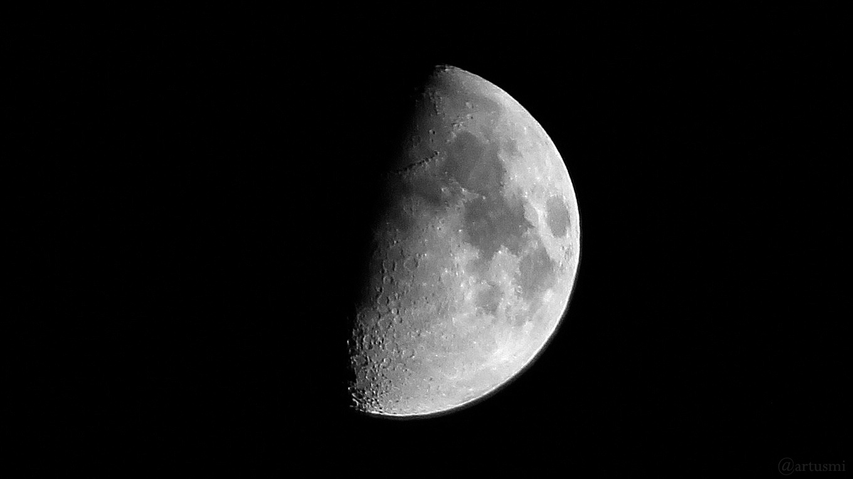 Zunehmender Mond am 12. Mai 2019 um 23:44 Uhr