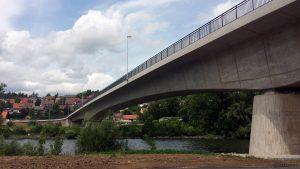 Neue Mainbrücke in Ochsenfurt am 15. Juni 2019
