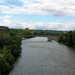 Main und Alte Mainbrücke in Ochsenfurt am 15. Juni 2019