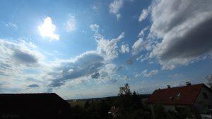 Wetterbild aus Eisingen vom 18. August 2019 um 16:49 Uhr bei über 30 Grad - Richtung Westen