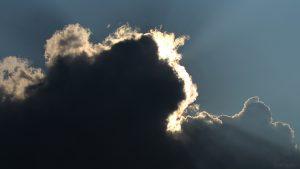 Wolkenstrahlen am 27. August 2019 um 17:08 Uhr