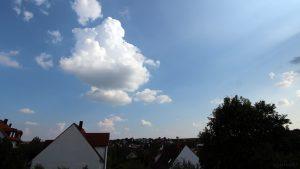 Wetterbild aus Eisingen vom 27. August 2019 um 17:10 Uhr bei 30 Grad