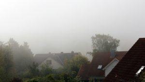 Erster Herbstnebel in Eisingen am 10. September 2019 um 10:08 Uhr
