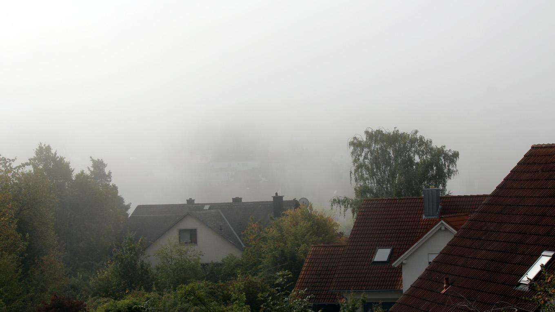 Erster Herbstnebel in Eisingen am 10. September 2019 um 10:10 Uhr