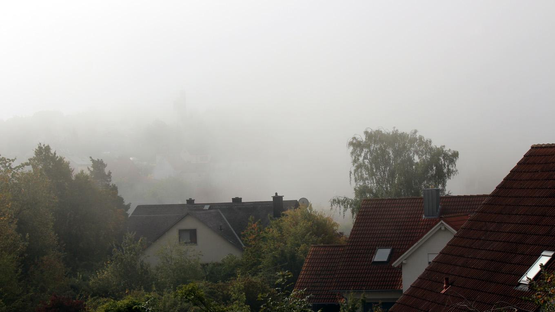Erster Herbstnebel in Eisingen am 10. September 2019 um 10:12 Uhr