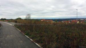 Neubaugebiet Guttenberger Straße in Eisingen am 1. Oktober 2019