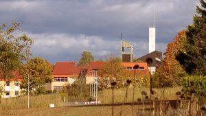 Neubaugebiet an der Guttenberger Straße und St. Josefs-Stift Eisingen am 11. Oktober 2019