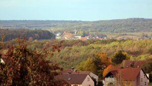 Blick von Eisingen nach Hettstadt am 11. Oktober 2019