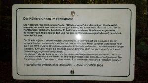 Legende zum Köhlerbrunnen im Probstforst bei Waldbrunn