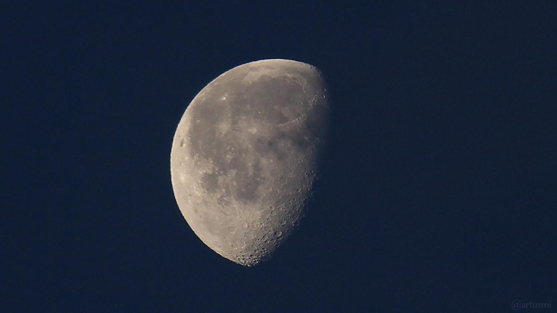 Abnehmender Mond am 17. Dezember 2019 um 08:18 Uhr