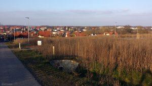 Neubaugebiet an der Guttenberger Straße in Eisingen am 7. Februar 2020