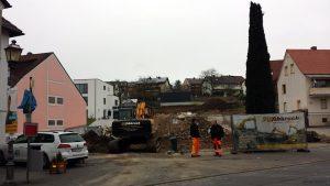 Abriss von Gebäuden in der Hauptstraße 52 am 24. Februar 2020 in Eisingen