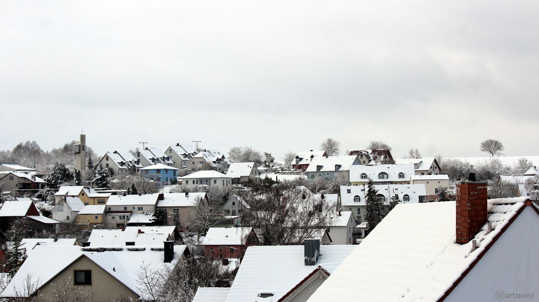Tief Bianca beschert Teilen Mainfrankens den ersten Schnee