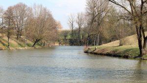 Fischweier am Zigeunerholz bei Sommerhausen am 26. März 2020