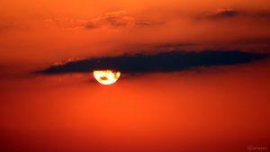 Sonnenuntergang in Eisingen am 28. März 2020 um 18:20 Uhr