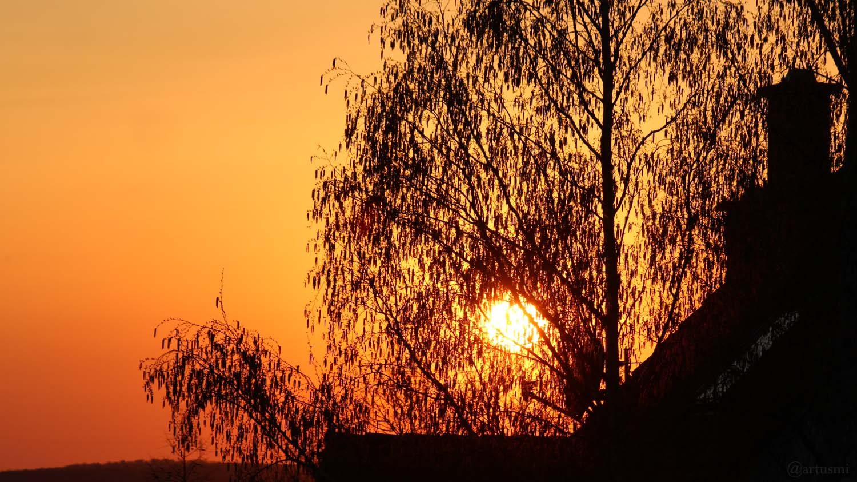 Sonnenuntergang am 7. April 2020 um 19:46 Uhr in Eisingen