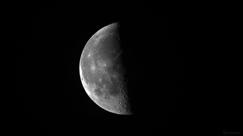 Abnehmender Halbmond (letztes Viertel) am 15. April 2020 um 05:58 Uhr