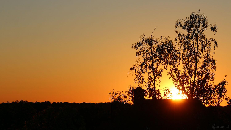 Sonnenuntergang in Eisingen am 5. Mai 2020 um 20:34 Uhr