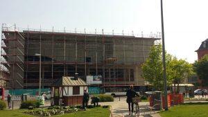 Baufortschritt Stadttheater Würzburg am 14. Mai 2020