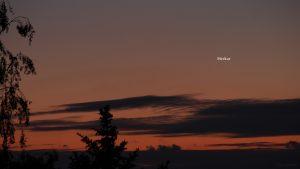 Merkur am 16. Mai 2020 um 21:40 Uhr am NW-Horizont von Eisingen
