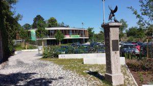 Umweltstation und Brieftauben-Denkmal in Würzburg