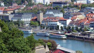 Am 18. Mai 2020 wegen Coronavirus noch keine Schifffahrt auf dem Main in Würzburg