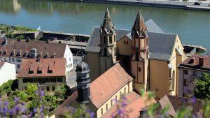 St. Burkard in Würzburg am Main am 18. Mai 2020