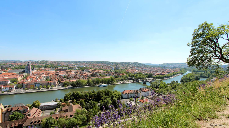 Würzburg am Main am 18. Mai 2020