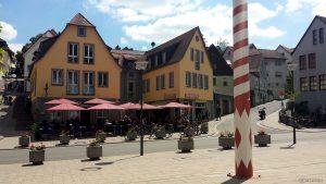 Ortsmitte von Höchberg am 21. Mai 2020 um 13:51 Uhr