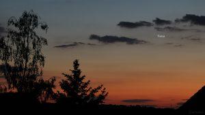 Venus am 25. Mai 2020 um 21:48 Uhr am Nordwesthimmel von Eisingen
