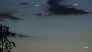 Merkur, Elnath und Venus am 25. Mai 2020 um 21:55 Uhr