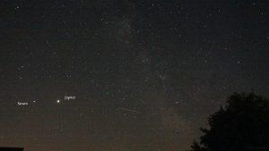 Saturn und Jupiter am 29. Mai 2020 um 03:05 Uhr am Südhimmel von Eisingen