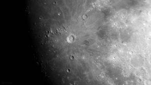 Mondkrater Kopernikus am 1. Juni 2020 um 21:27 Uhr
