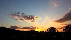 Sonnenuntergang am 12. Juni 2020 um 21:13 Uhr in Würzburg