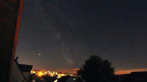 Saturn, Jupiter und die Milchstraße am 19. Juni 2020 um 01:21 Uhr über Eisingen