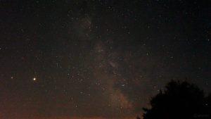 Saturn, Jupiter und die Milchstraße am 19. Juni 2020 um 01:39 Uhr über Eisingen