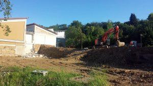 Baustelle Schulhaus Eisingen am 29. Juni 2020