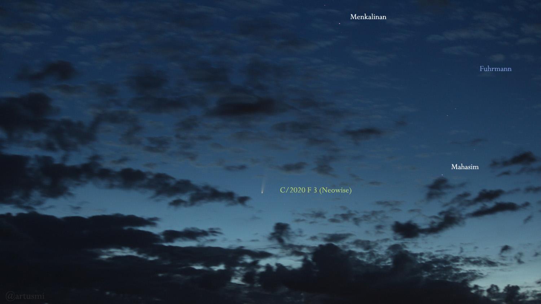 Komet Neowise (C/2020 F3) über Mainfranken